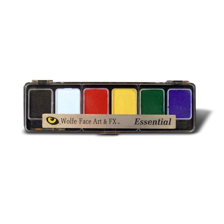 Wolfe Essentials Face Paint Palettes (6 Colors) (Face Paints Wolfe Brothers)