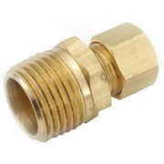 710068-0604 Brass Compression Connector, Lead-Free, 3/8 x 1/4-In. MPT - Quantity 1
