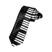 2' Trendy Skinny Tie  - Inverse Colored Piano