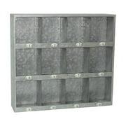 Cheungs Galvanized 12 Hole Wall Shelf