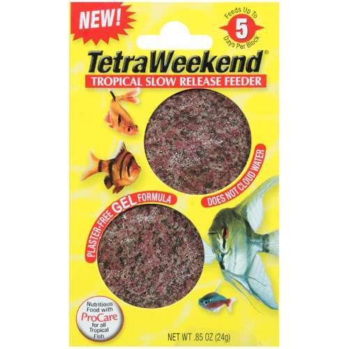 Tetra Weekend: Tropical Slow Release Feeder Fish Food, .85 Oz
