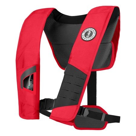 Mustang Sur Vi Val MD2981-123 DLX 38 Deluxe Manual Inflatable PFD - Red, Black