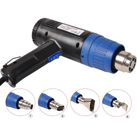 Heat Gun Hot Air Gun Dual Temperature 4 Nozzles Power Tool 1500