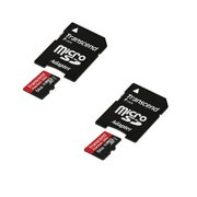 Sony HDR-AZ1 Action Mini Cam Camcorder Memory Card 2 x 64GB microSDHC Memory Card with SD Adapter (2 Pack)