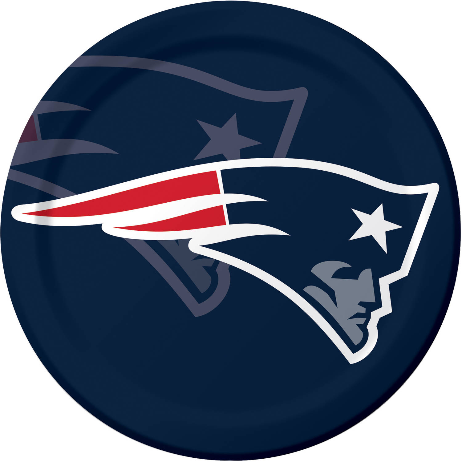 New England Patriots Plates, 8-Pack