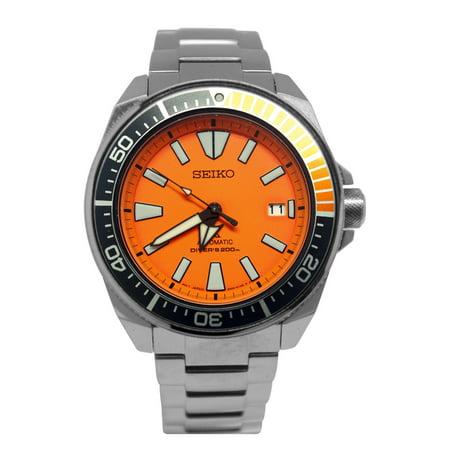 SRPC07 Prospex Samurai Dive Automatic Orange Silver Stainless Steel Watch