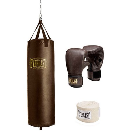 Everlast 100 lb Vintage Heavy Bag Kit