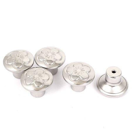 Fleur porte tiroir armoire acier inox ronde impression Bouton poignée porte 5Pcs - image 2 de 2