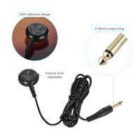 Adeline AD-35 Mini Piezo Pickup Contact Microphone Transducer with 6.35mm Output Plug 3 Meters Cable for Acoustic Classical Folk Guitar Violin Ukulele