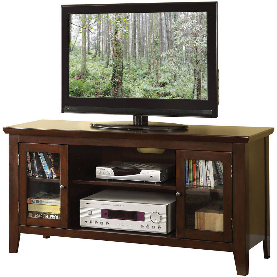 "ACME Banee TV Stand for Flat Screens TVs up to 50"", Espresso"