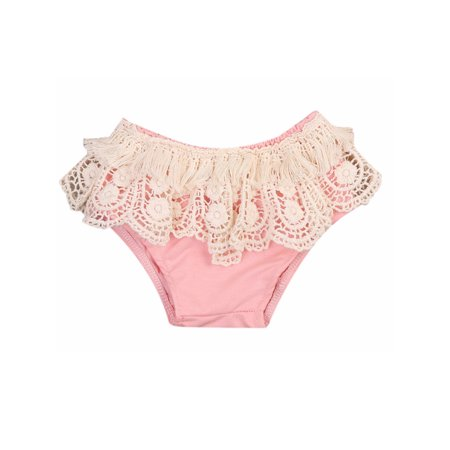 stylesilove Baby Girls Crochet Fringed Cotton Bloomers (70/3-6 Months, - Bloomers Pantaloons