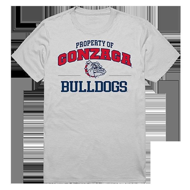 W Republic Apparel 517-187-EJ8-01 Gonzaga University Property College Tee Shirt - Silver, Small - image 1 de 1