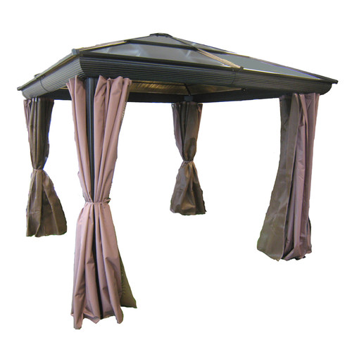 Gazebo Penguin All Season 10 Ft. W X 10 Ft. D Metal Patio Gazebo