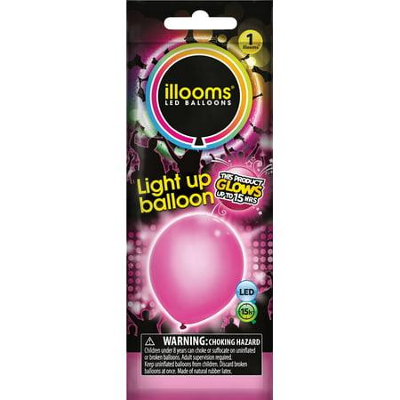 Illooms Pink Light Up Balloon 1 Pack Walmartcom