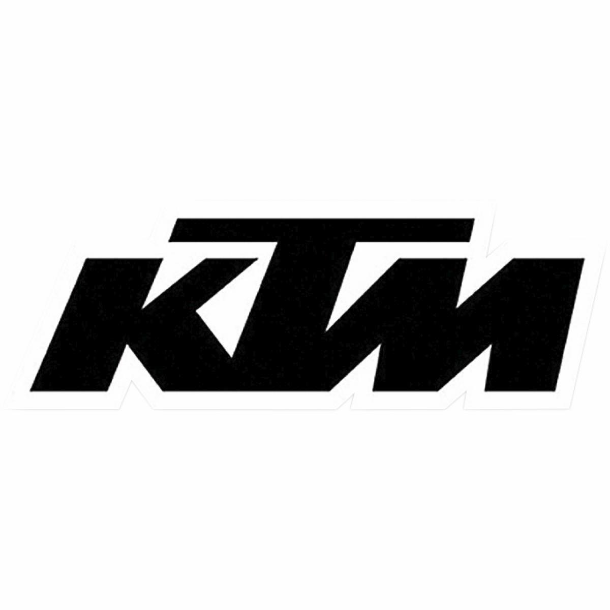 Factory effex 19 94552 die cut sticker 1ft logo ktm black