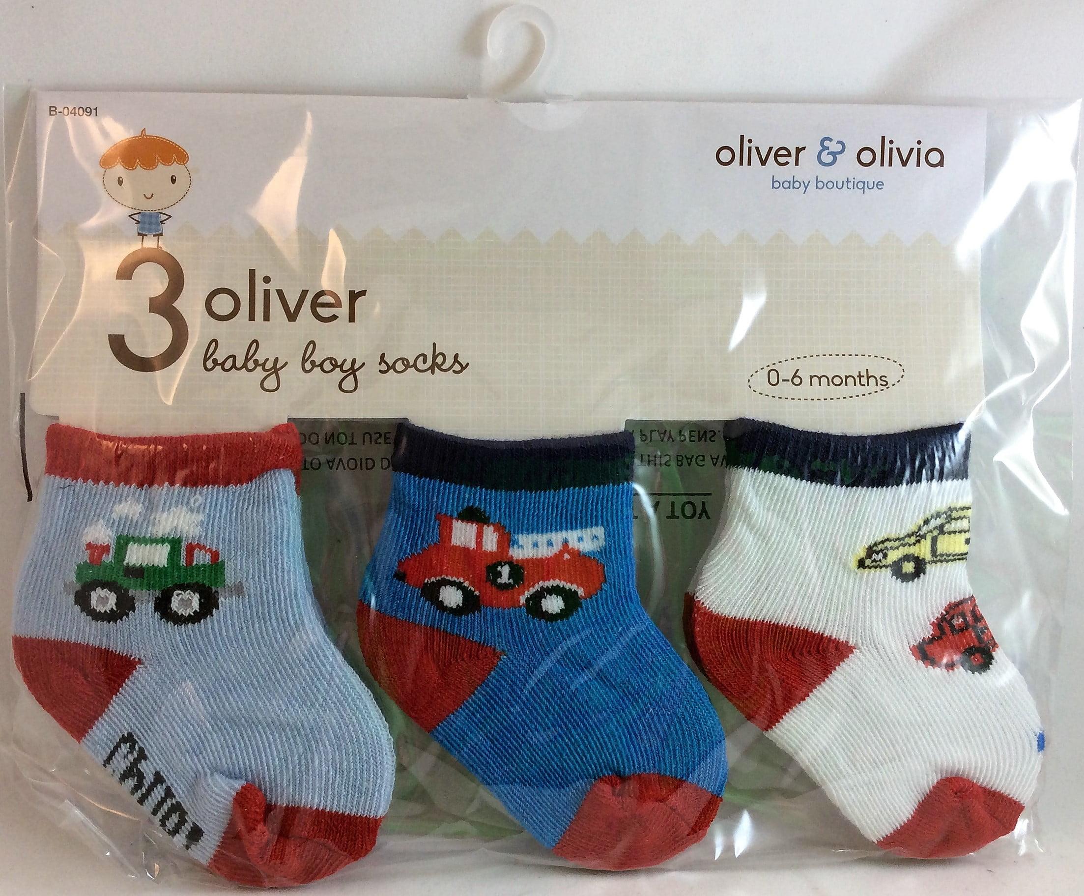 Baby Boys Assorted Dinosaur//Dragon Design Socks Pack Of 3