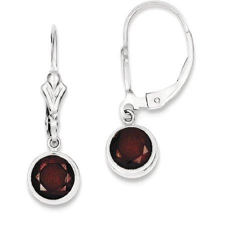 Ice Carats 925 Sterling Silver Red Garnet Leverback Earrings Lever Back Drop Dangle Fine Jewelry Ideal