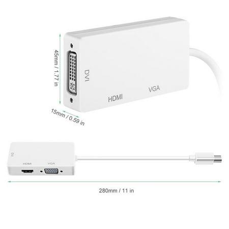 3 in 1 Thunderbolt Port Mini Displayport HDMI DVI VGA