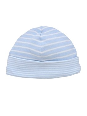 Under The Nile Baby Organic Cotton Reversible Pale Blue Stripe Beanie