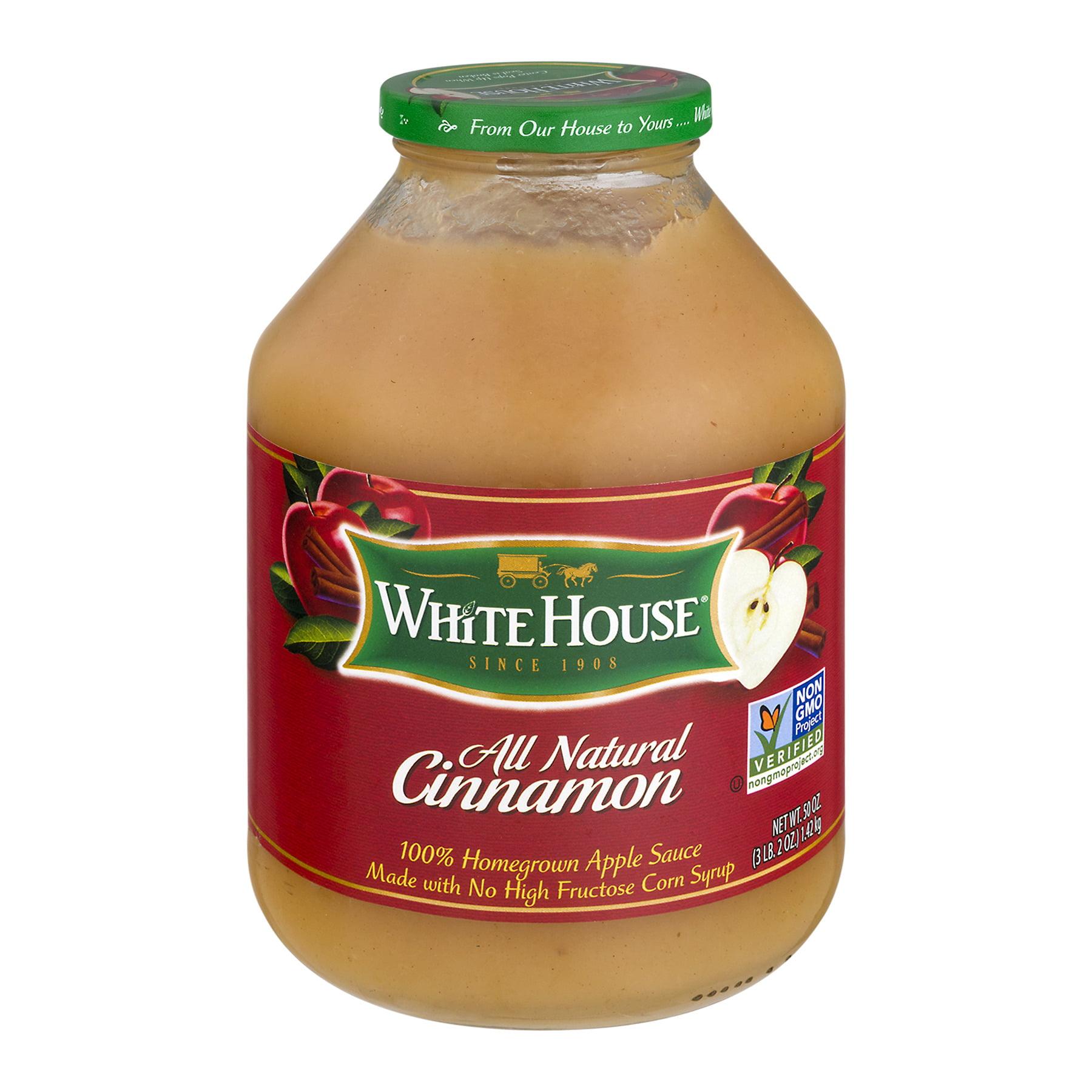 White House All Natural Apple Sauce Cinnamon, 50.0 OZ