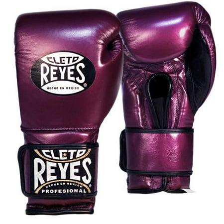Hook And Loop Boxing Gloves (Cleto Reyes Hook and Loop Leather Training Boxing Gloves - Purple)