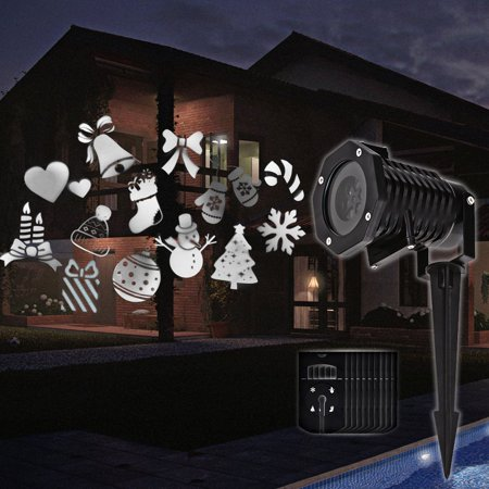 TORCHSTAR LED Projector Light, 10 Interchangeable Pattern Slides, Outdoor Festival Decorating Lamp, Auto Moving, Plug-n-Play, Halloween, Thanksgiving, Easter, Birthday, Event, Christmas, Party (White)](Halloween Decorated)