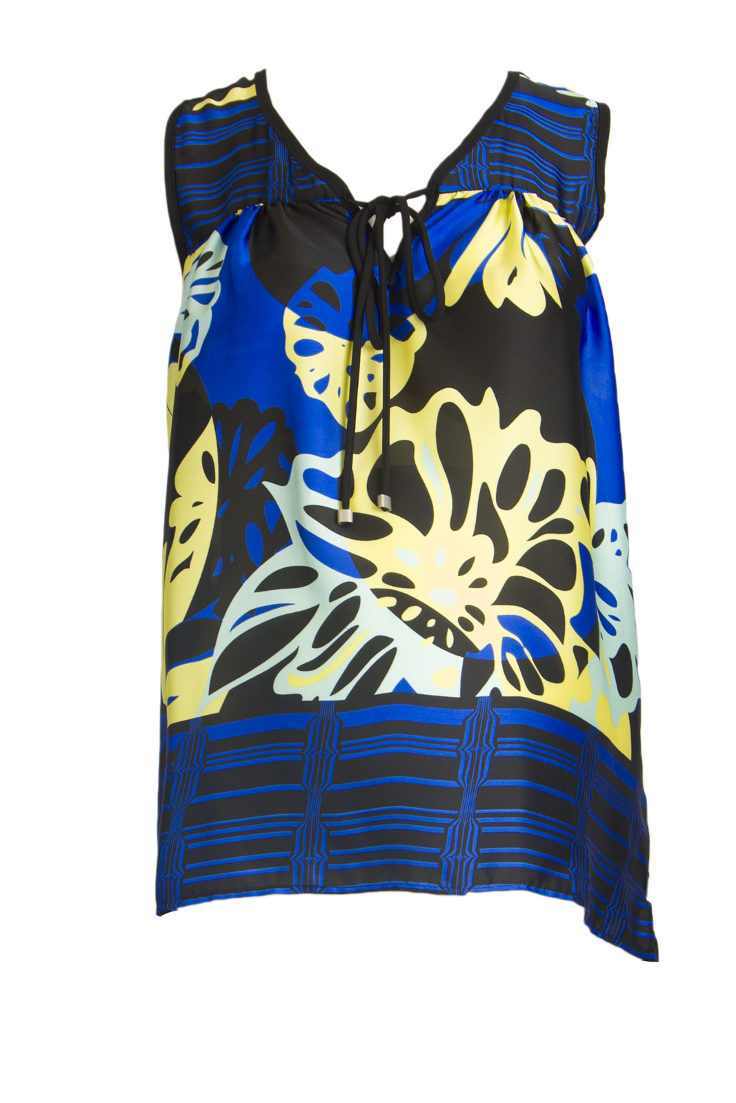 OLIAN Maternity Women's Floral Print Hi-Low Hem Sleeveless Top X-Small Multi