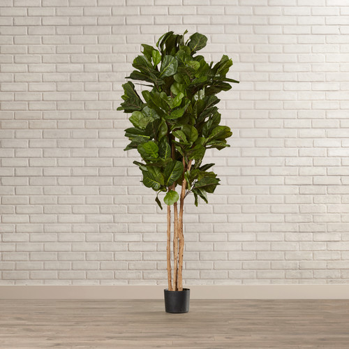 Mistana Leaf Floor Foliage Tree In Planter Walmart Com