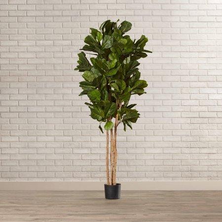 Mistana Leaf Floor Foliage Tree In Planter Walmart Com