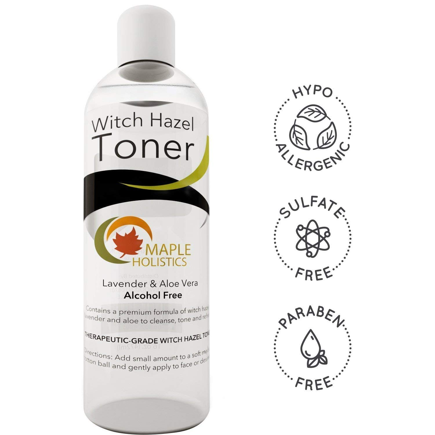 Pure Witch Hazel Toner for Face and Body Alcohol Free Therapeutic With Aloe Vera and Lavender Essential Oil Anti-Aging Natural Skin Care for Women and Men Deep Clean to Minimize Pores For Smooth Skin