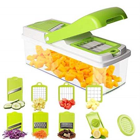 Mandoline Slicer Vegetable Slicer Chopper Dicer Onion Cutter Chopper Pro 8 Blades of Squeezer Julienne Slicer Grater Kitchen C