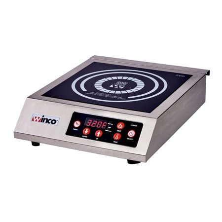 Winco EIC-400C, Commercial Electric Induction Cooker with 20 Amp Power Cord, 1800W