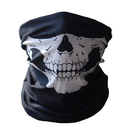Black Half Face Skull Mask for Outdoor,Cycling ,Riding ,Hiking Motorcycling