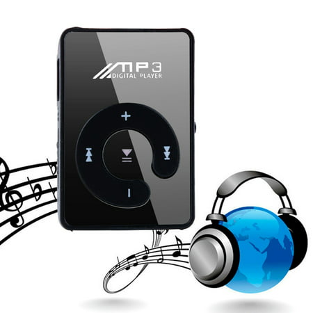 Stylish MP3 Music Player Mini Clip Specchio Rechargeable USB 2.0 Support  TF (Mp3 Player Camera Phone)