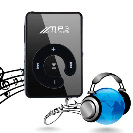 Stylish MP3 Music Player Mini Clip Specchio Rechargeable USB 2.0 Support  TF
