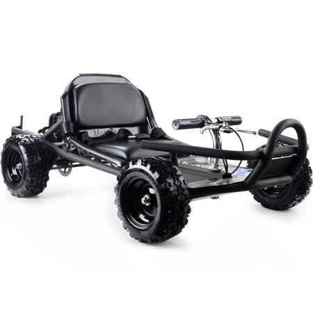 MotoTec SandMan Go Kart 49cc Black (American Sportworks Black Widow Go Kart Reviews)