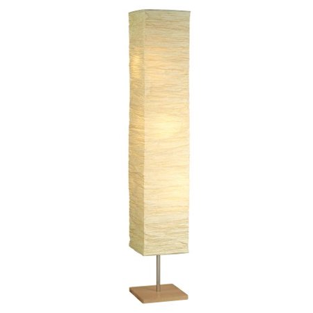 Dune Floorchiere - Collapsible Crinkle Paper Shade Natural by Adesso](Rice Paper Lamp)