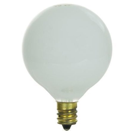 2PK - SUNLITE 40W 120V Globe G16.5 E12 White Incandescent Light