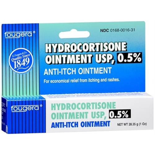 Fougera Hydrocortisone USP 0.5% Ointment 1 oz (Pack of 2)
