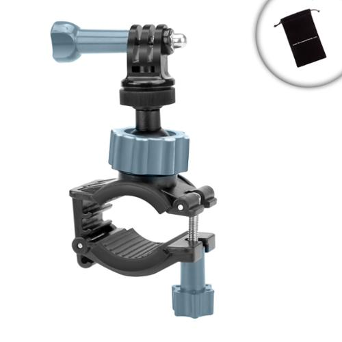 Tough Compact Camera Stabilizing Handlebar Mount by USA Gear - Works With Fujifilm FinePix XP80 , Nikon Coolpix AW130 , Olympus Tough TG-4 and More