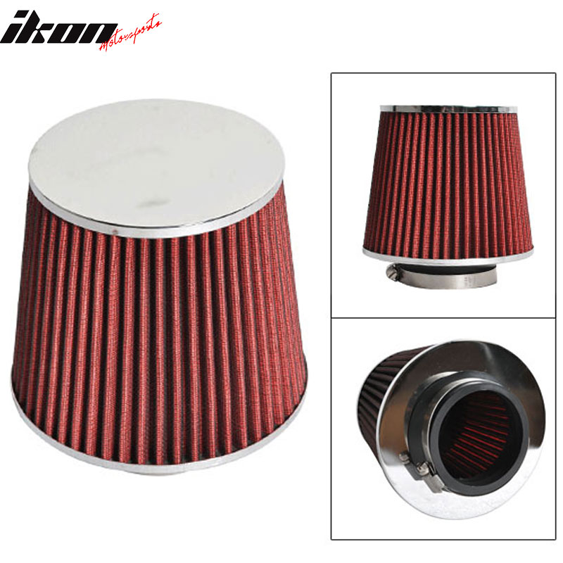 Fits 3 Inch Race Performance Cold Air Intake Cone Filter Red 88-01 Integra