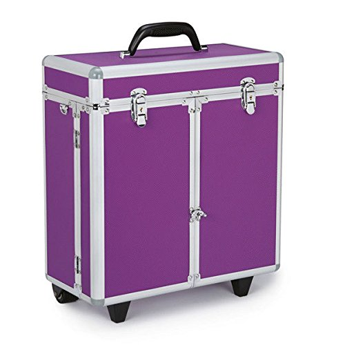 PROFESSIONAL GROOMING TOOL CASES on WHEELS - Portable Storage for Groomers Tools(Purple)