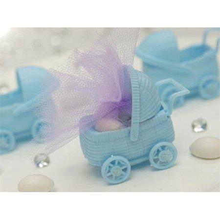 BalsaCircle 12 pcs Plastic Carriage Baby Shower - DIY Favors Party Decorations Crafts Supplies - Mason Jar Baby Shower Favors