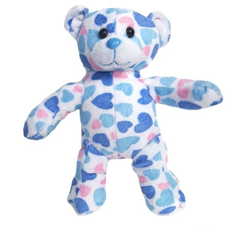 Cuddly Soft 8 inch Stuffed Blue Heart Bear   We stuff 'em   you love 'em!