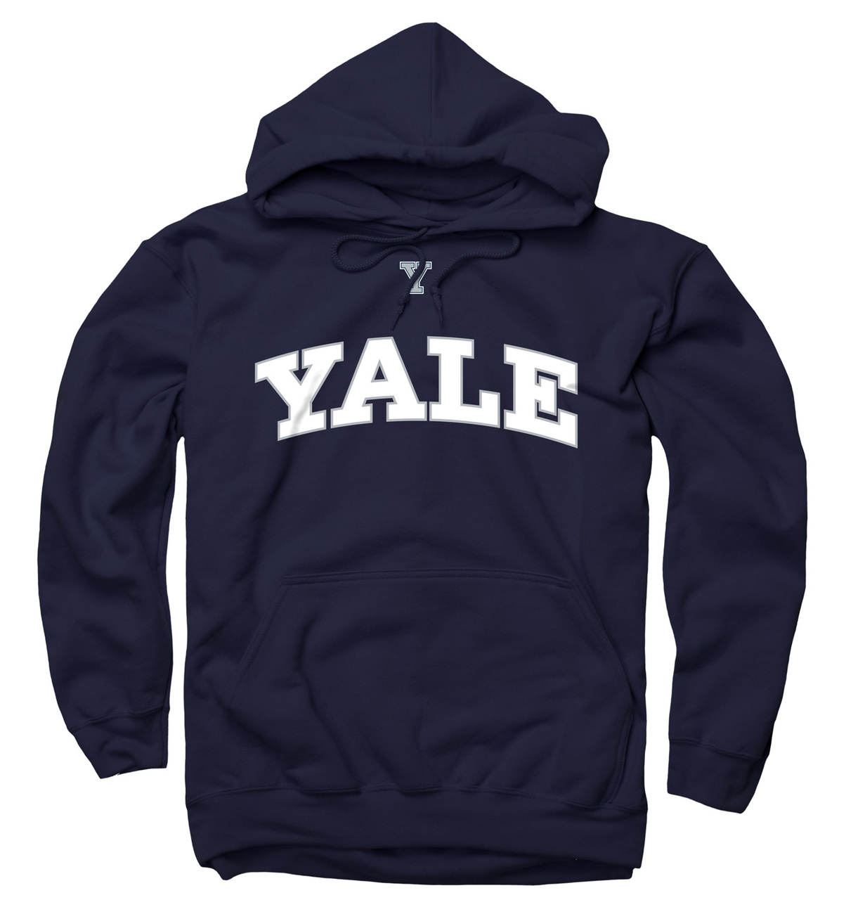 Yale Bulldogs Icon Arch Hooded Sweatshirt - Navy