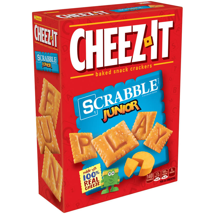Cheez-It Scrabble Junior Baked Snack Crackers, 12.4 oz