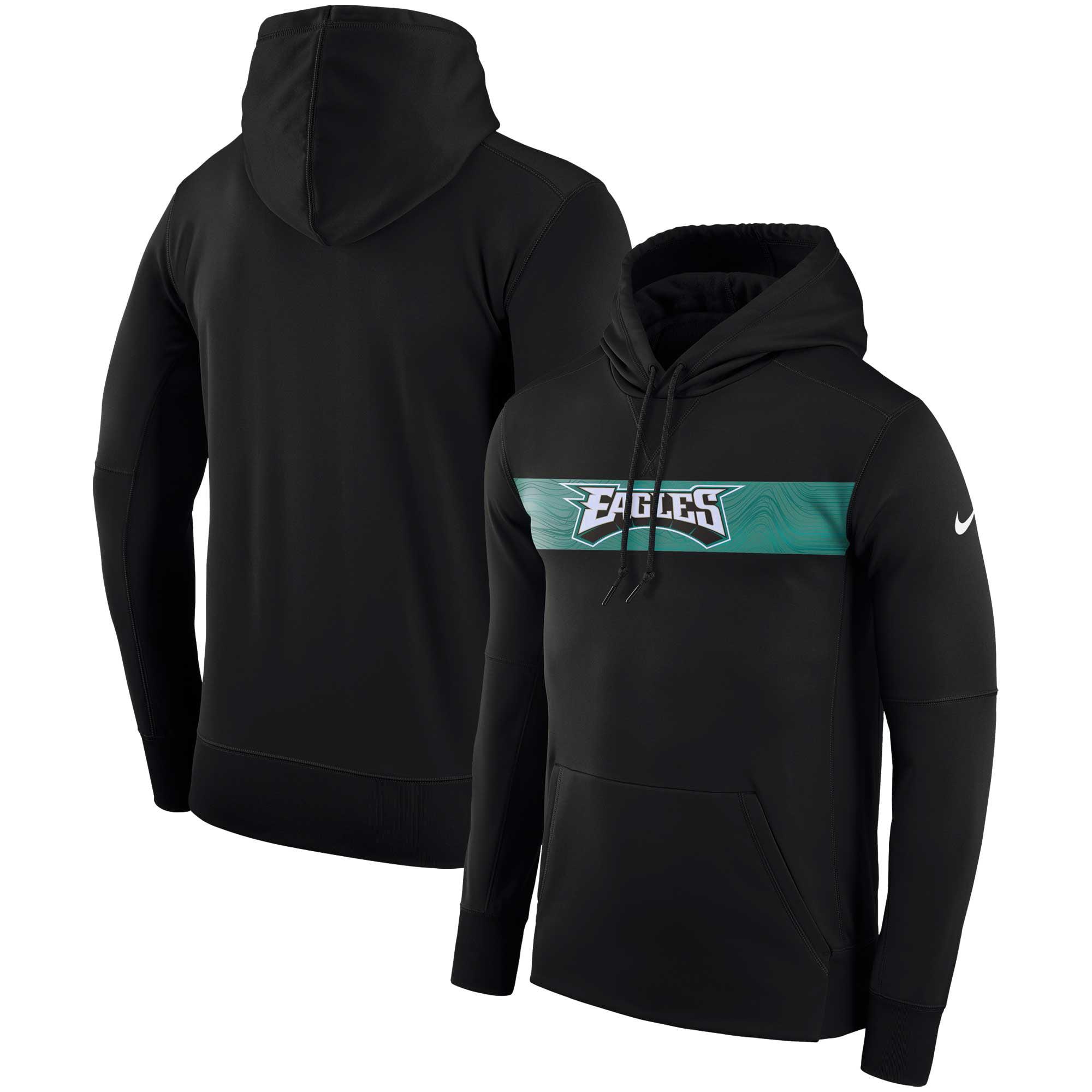 Philadelphia Eagles Nike Sideline Team Performance Pullover Hoodie - Black