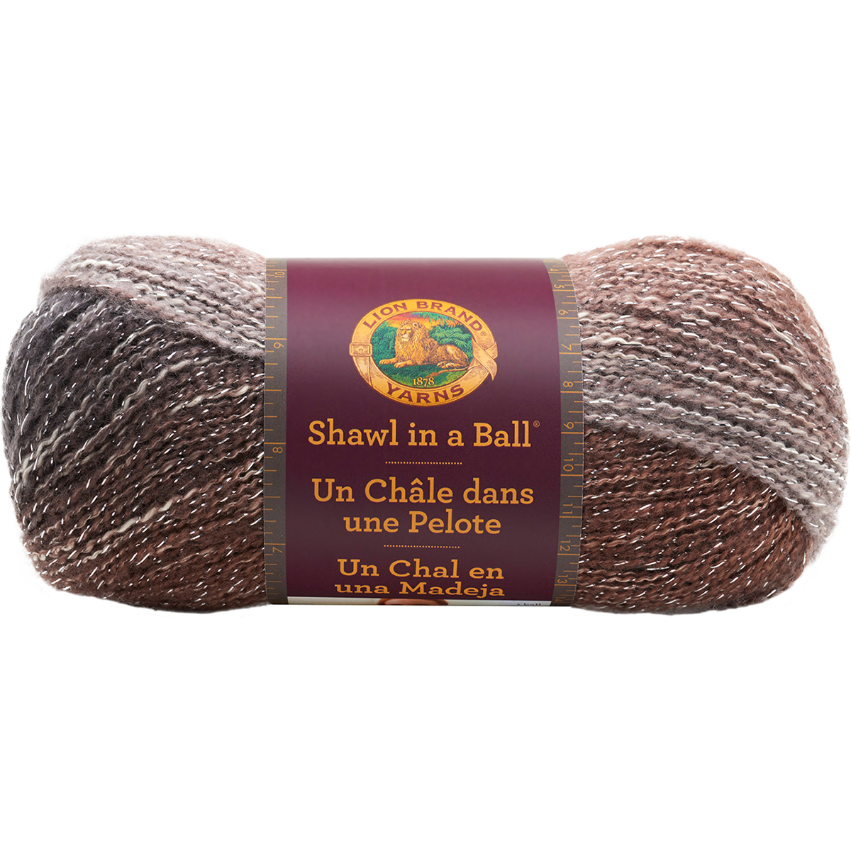 Lion Brand Shawl in a Ball Cotton & Acrylic Peaceful Earth Yarn, 518 Yd.