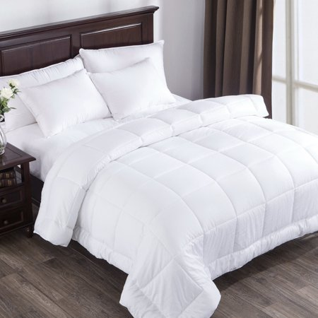 Puredown White Down Alternative Comforter Duvet Insert with 300 Thread Count Cotton - Down On The Count