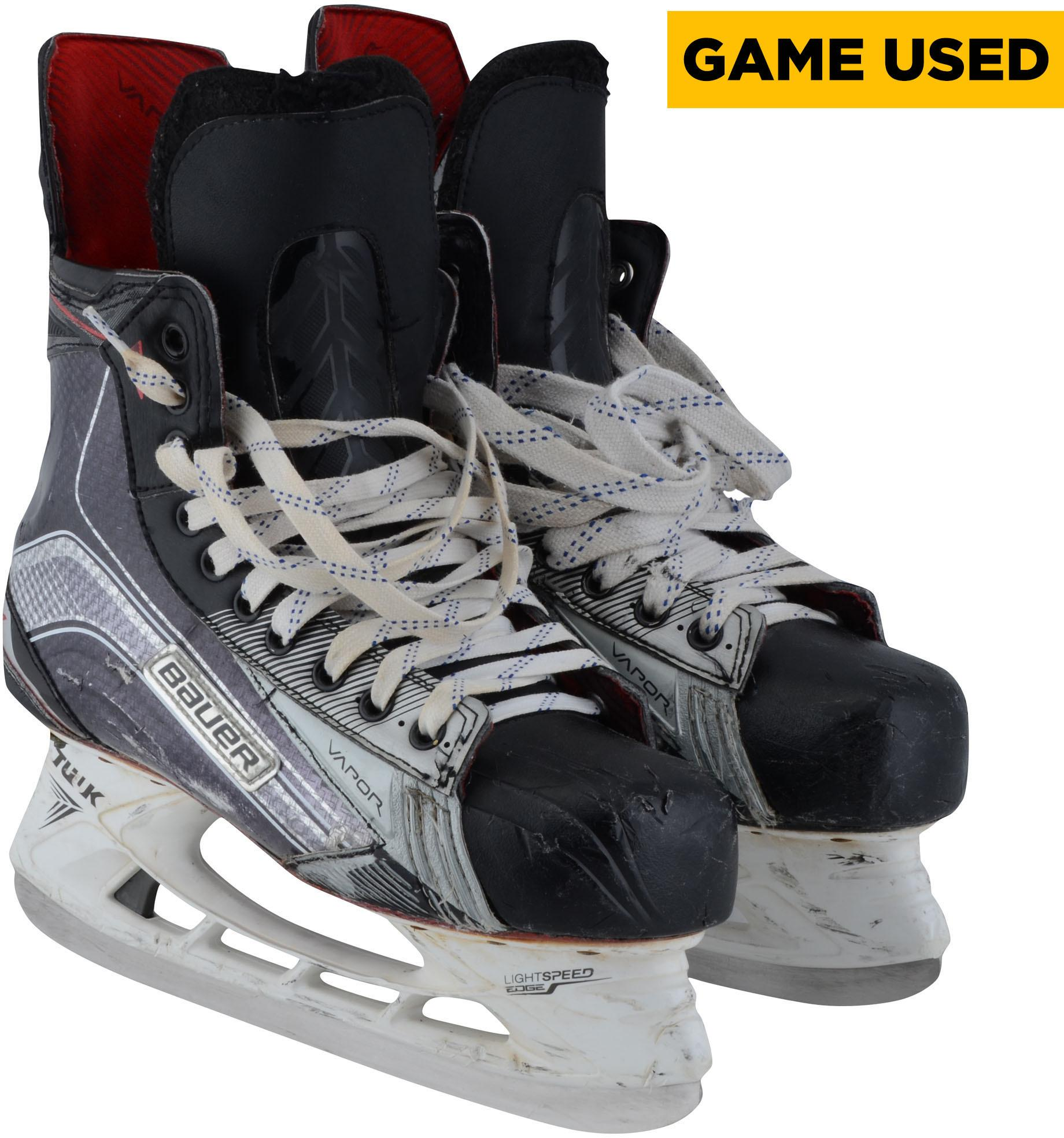 Timo Meier San Jose Sharks Game-Used Black Bauer Skates from the 2017-18 NHL Season Fanatics Authentic Certified by Fanatics Authentic